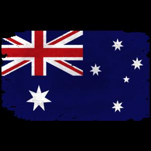 Australia Flag - Vintage Look