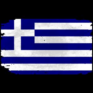 Greece Flag - Vintage Look