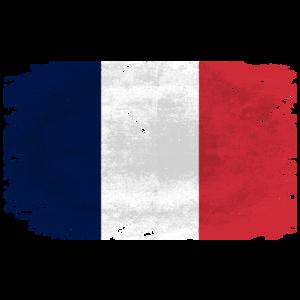 France Flag - Vintage Look