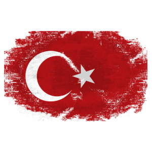 Türkei - Turkey Flag - Vintage Look