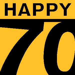Happy 70 Geburtstag