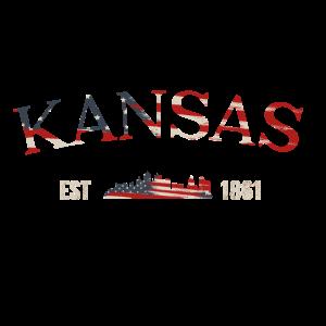 Kansas City T-shirt Cool Shirt of Kansas