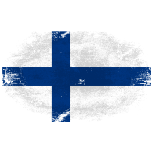 Finland Flag - Vintage Look