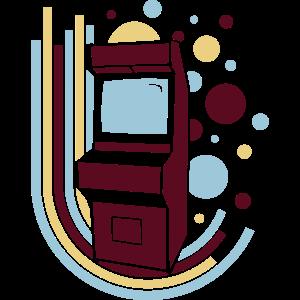 Arcade-Automat (Retro Kreise)