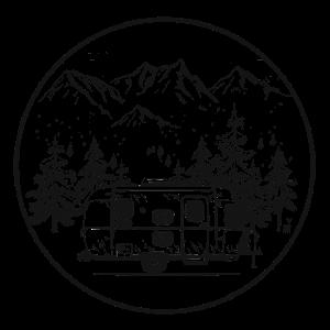 Berge Camping Camper Lagerfeuer Wohnwagen Geschenk