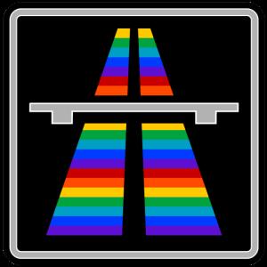 Regenbogen Autobahn