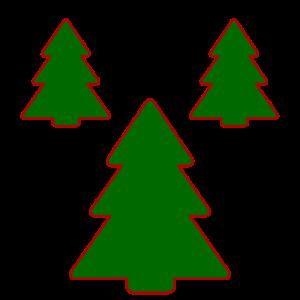 Tannenbäume Weihnachtsgeschenk