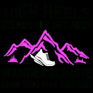 Wandern – Shirt Wanderschuhe Bergsteigen Geschenk