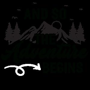 Wandern – Shirt Abenteuer Bergsteigen Geschenk