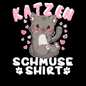 Katzen Schmuse Shirt Kätzchen Katze Kuscheln