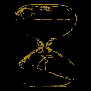 Sanduhr / Zeit / gold