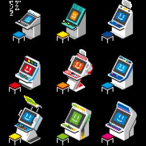 Retro-Gaming Japanese 90s Arcade Pixelcandys