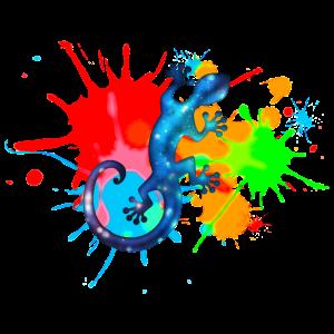 Space Gecko, Farbe, Bunt, Spritzer, surfen, Farben