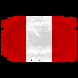 Peru Flag  - Vintage Look
