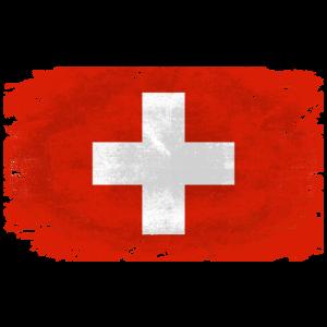 Switzerland Flag  - Vintage Look