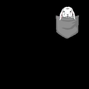 Hase in Brusttasche Häschen in Tasche Geschenk