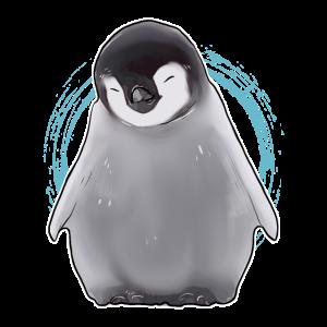 Pinguin süßes kleines Tier Kalt Schnee