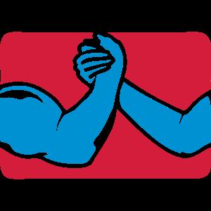 armdruecken arm eisen logo 26