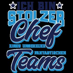 Chef T Shirt stolzer Chef eines fantastischen Team
