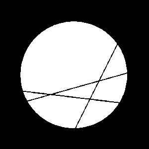 GEOMETRISCH - KREIS - CHOPSTICKS - WHITE