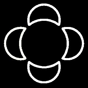 Vier Monde Vertikal Weiß