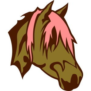karikatur gesicht pferde kopf 22