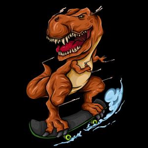 Skateboarding T Rex - Trex Dinosaurier Skateboarder