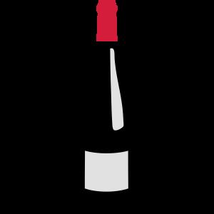 flasche rotwein plonk 603