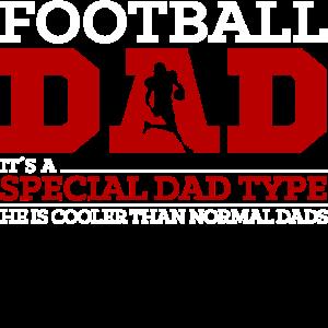 American Football Dad Papa Vater Lustig Spruch