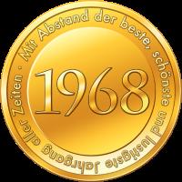 Goldmünze Goldmedaille Jahrgang 1968