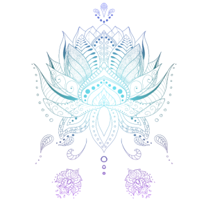 Lotusblume indisch Boho Stil Mandala Ornamenten