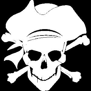 Pirat Totenkopf Schäden und Knochen Jolly Roger