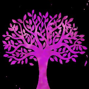 Pinker Baum Geschenk Idee