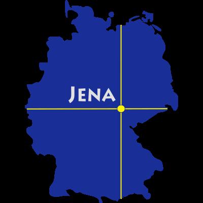 Jena - Jena liegt in Thüringen. - Zwätzen,Winzerla,Wenigenjena,Thüringen,Saale,Neulobeda,Lobeda,Kernberge,Jena