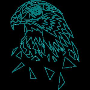 Adler geometrisch Adlerkopf Tier
