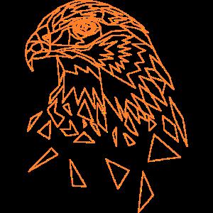 Adler geometrisch Adlerkopf