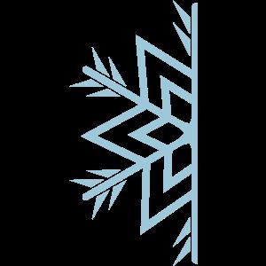 Halbe Schneeflocke / semi snowflake a 1c