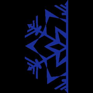 Halbe Schneeflocke / semi snowflake b 1c