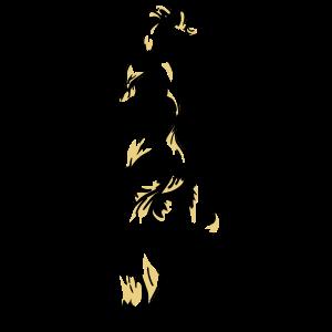 Meerjungfrau-Vektor-Design in schwarz und gelb