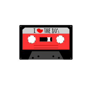 I Love The 80's Achtziger Kassette Casette Retro