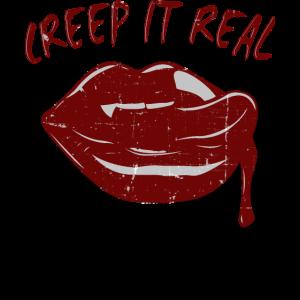 Halloween Vampir Mund Lippen Zähne