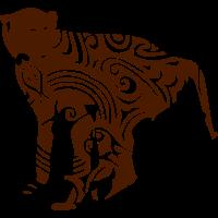 monkey animal wilden stammesdesigns
