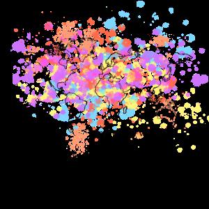 Weltenbummler Landkarte mit Wasserfarben Geschenk