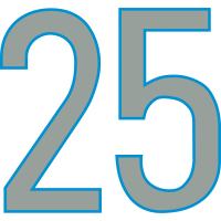 Nummern, Zahlen, 25, Pelibol ™