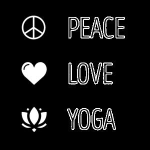"Yoga Shirt ● ""Peace * Love * Yoga"" ● Geschenk"