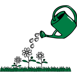 Garten blumen gießkanne