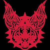 tiger fluegel logo wild wildes tier 702