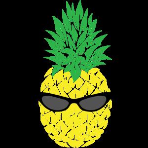 Ananas mit Sonnebrille