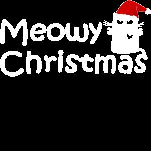 Miau Weihnachten Katze Zipfelmütze