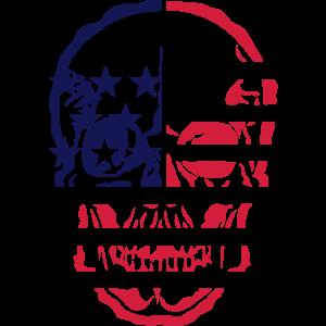 amerikanische flagge schaedel kopf tot 6